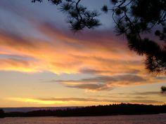 A beautiful sunset by Jack lake.
