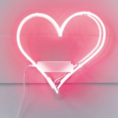 Neon Heart Wall Light ($71) ❤ liked on Polyvore featuring home, lighting, wall lights, neon lamps, glass light, glass lamps, neon wall lights and glass lighting