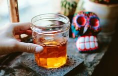 Espíritu Alegre:  2  Ounces  reposado Tequila 1/4  Ounce  honey syrup 1/4  Ounce  mezcal 2  Dashes of Angostura bitters