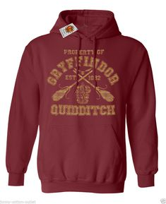 Gryffindor Quidditch Hoodie For Men & Ladies Unisex Harry Potter Inspired Sale in Clothes, Shoes & Accessories, Men's Clothing, Hoodies & Sweats | eBay