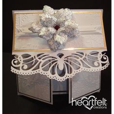 Gallery | Silver Poinsettia Multi Fold Card - Heartfelt Creations
