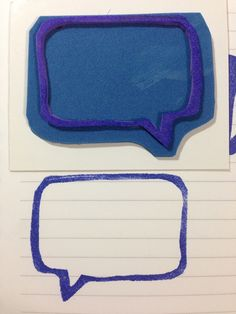 dialogue box cut out on foam. super easy and fast