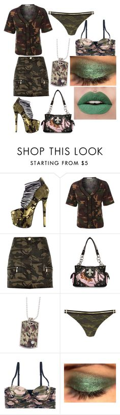 """""""Sexy Camo"""" by twettybird2017 on Polyvore featuring London Trash, LE3NO, River Island and Mossy Oak"""