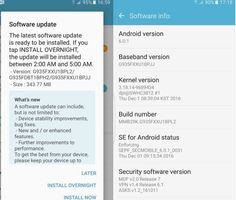 December Security Update for Samsung Galaxy S7 and Galaxy S7 Edge. Android's monthly security update for December on the Samsung Galaxy S7 and Galaxy...
