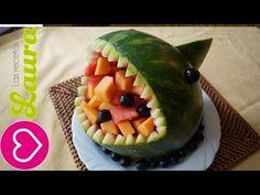 Convierte una sandia en un barco, idea para regalar el dia del padre - La receta de la abuelita - YouTube