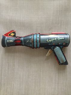 Tin Toy Space Gun Lithograph Friction Made in Japan 1960'S | eBay