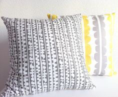 from blota on etsy - love gray and yellow