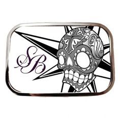 Steadfast Brand White Skull Belt Buckle ~ Jime Litwalk