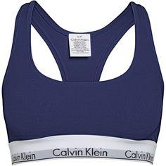 Calvin Klein Modern cotton bralette (265 VEF) ❤ liked on Polyvore featuring intimates, bras, navy, women, navy bra, bralette bras, cotton bras, calvin klein and navy blue bra