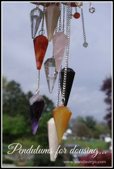 """Pendulums for dousing are a fun way to get in touch with the answers from spirit, guides, angels and your higher self. Stop in and find a great selection in my Etsy shop of unique """"One of a Kind"""" Pendulums. https://www.etsy.com/shop/CrystalVibrations06"""