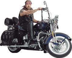 Motorbiker Harley Davidson Motorcycle