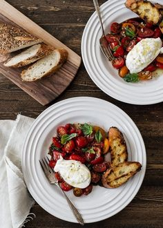 Summer tomatoes, fresh basil, and creamy burrata. To me, this is the perfect summer meal. Recipe reprinted from DiBruno Bros. House of Cheese, courtesy of DiBruno Bros. and Running Press. #healthy #delicious #burrata | kitchenconfidante.com via @kitchconfidante
