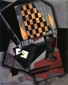 Checkerboard and Playing Cards - Juan Gris - The Athenaeum