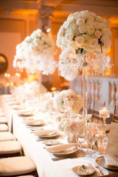 A Glamorous Evening At This Washington DC Wedding from Abby Grace Photography - wedding centerpiece idea