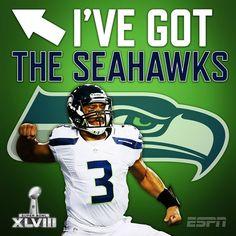 I pick Seahawks!
