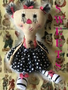 Monster dolls,gothic dolls,grunge dolls,primitive dolls,Baby Doll,Stuffed,Handmade,Gothic,creepy dolls,Great Gift,Monster Doll,Plush,Friend, by DDSMASCOTMONSTERS on Etsy