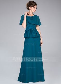 Mother of the Bride Dresses - $138.99 - A-Line/Princess Cowl Neck Floor-Length Chiffon Mother of the Bride Dress With Lace Beading Sequins Cascading Ruffles (008040837) http://jjshouse.com/A-Line-Princess-Cowl-Neck-Floor-Length-Chiffon-Mother-Of-The-Bride-Dress-With-Lace-Beading-Sequins-Cascading-Ruffles-008040837-g40837