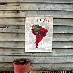 """Toile murale """" Escape"""" Les Petites Kasko"""