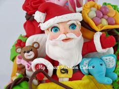 Christmas Santa - Cake by Beata Khoo