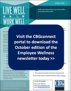 Employee Wellness Newsletter for October 2016: Halloween Safety, Breast Cancer Awareness, and More