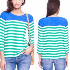 J Crew three-quarter sleeve top. Great used condition. Rayon, dry clean. Thanks for looking! J. Crew Tops Blouses