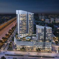 Office Building Architecture, Colour Architecture, Hotel Architecture, Commercial Architecture, Futuristic Architecture, Concept Architecture, Amazing Architecture, Mix Use Building, Building Concept