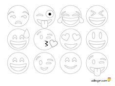 Los 12 emoticonos más usados en Whatsapp listos para imprimir y colorear, recortar, calcar y decorar. Las posibilidades son infinitas, compruébalo Emoji Coloring Pages, Free Printable Coloring Pages, Colouring Pages, Coloring Books, Mug Rug Patterns, Felt Patterns, Diy Arts And Crafts, Felt Crafts, Emoji Craft