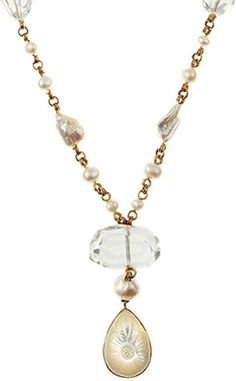 pics+of+Stephen+Dweck+jewelry | Stephen Dweck Motherofpearl Pendant Necklace in Gold (null) - Lyst