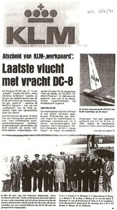 KLM Cargo history: Dutch article about the last flight of the DC-8 freighter 18-4-1981 (1/2)