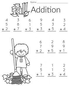 1st grade Timed Math Drill Sheets: Five Minute Addition 0