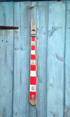 Nautical Driftwood Hanging Lighthouse Sign