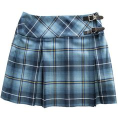 """Billie fashion Mini Kilt. Made using our 10oz tartan fabric. With a contrasting waist band cut on the bias. Available in size 6 to 12 and only in the length 16"""". Our skirts are all made to order and the pleating is done by hand, so please allow up to 4-6 weeks for delivery. The exclusive Ryder Cup Tartan had been designed by Lochcarron of Scotland in July 2013 to celebrate the 40th Ryder Cup Match, which will take place at Gleneagles, Scotland in 2014. Inspired by the landscape of ..."""