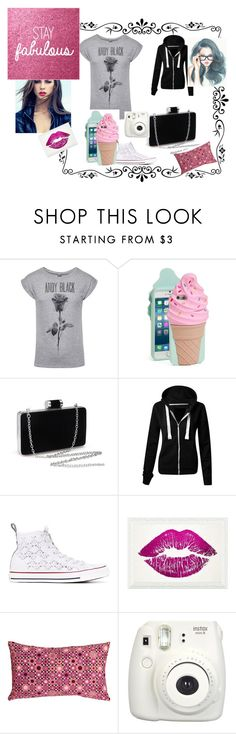 """""""Cute 4"""" by ivieoww ❤ liked on Polyvore featuring Kate Spade, Converse, Oliver Gal Artist Co. and Pillow Decor"""