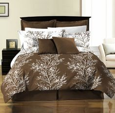 Brown Bedding | WebNuggetz.com.  I love brown, and not simply because it's my last name ;)