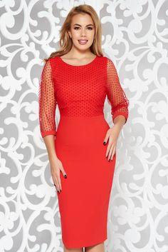 Red elegant pencil dress slightly elastic fabric with inside lining transparent sleeves Pencil Dress, Dressmaking, Line, Overlay, November, Zipper, Warm, Elegant