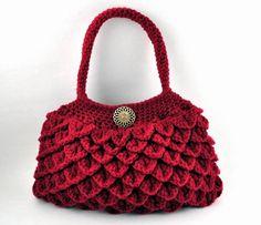 Crochet Crocodile Stitch Purse Bag by CrochetBeautyShoppe on Etsy Crochet  Crocodile Stitch 726bad045c5ca
