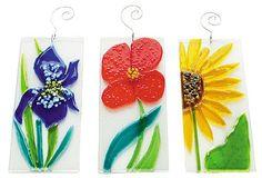 Fused Glass Flower Suncatchers!