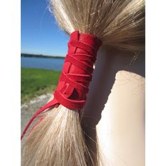 Bead Hair Tie Ponytail Holders Leather Hair Wraps Braid Hair... ($10) ❤ liked on Polyvore featuring accessories, hair accessories, black, ties & elastics, leather hair tie, beaded elastic headband, hippie headbands, elastic headbands and ponytail hair ties