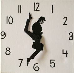 DIY instructions on how to make a Monty Python Silly Walks clock.