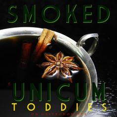 Cozy up with one of my new favorite winter treats: A Smoked Unicum Toddy, made with the Hungarian Amaro Unicum Plum smoked with Mesquite wood chips, and sweetened with a dash of Luxardo Liqueur.  It might get you wishing for winter to stick around a little longer...