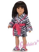 "Cute Girl Zebra PJ Pajamas Set Fits 18/"" American Girl Doll 2pc"