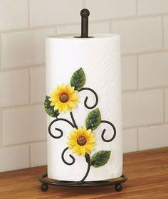 Sunflower paper towel holder kitchen table counter home country green leaf decor Home Decor Catalogs, Home Decor Online, Home Decor Store, Cheap Home Decor, Diy Home Decor, Paper Towel Holder Kitchen, Sunflower Kitchen Decor, Kitchen Decor Themes, Kitchen Collection