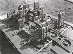 EL METABOLISMO JAPONÉS. Renovation del distrito Tsukji. Kenzo Tange. 1963
