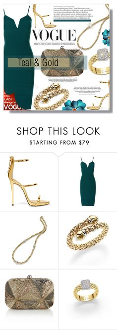 """""""Teal & Gold"""" by xwafflecakezx ❤ liked on Polyvore featuring Giuseppe Zanotti, Fope, Monsoon and Chanel"""