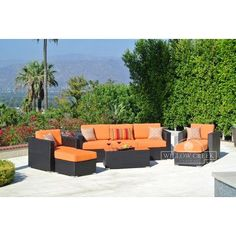 Willow Creek Designs Sonoma 6 Piece Deep Seating Group with Cushions Fabric: Med Block Strip