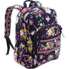 0747bf157a Vera Bradley Campus Backpack (Ribbons) Vera Bradley