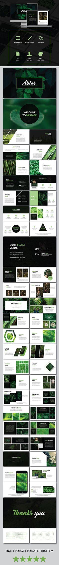 Abies - Multipurpose Keynote Template #design