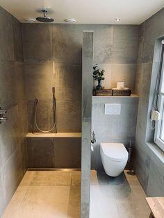 Bathroom completely modern concrete look sources and sanitary ba .-Badezimmer komplett modern Betonoptik Quellen und Sanitär badkam Bathroom completely modern concrete look sources and sanitary badkam # concrete look # tiles -