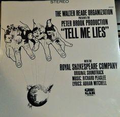"Tell Me Lies (1966 music Richard Peaslee) 12"" Mint Vinyl LP Original Soundtrack; Royal Shakespeare Company, Glenda Jackson, John Hussey"
