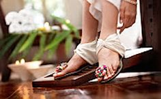 Indian white chappal